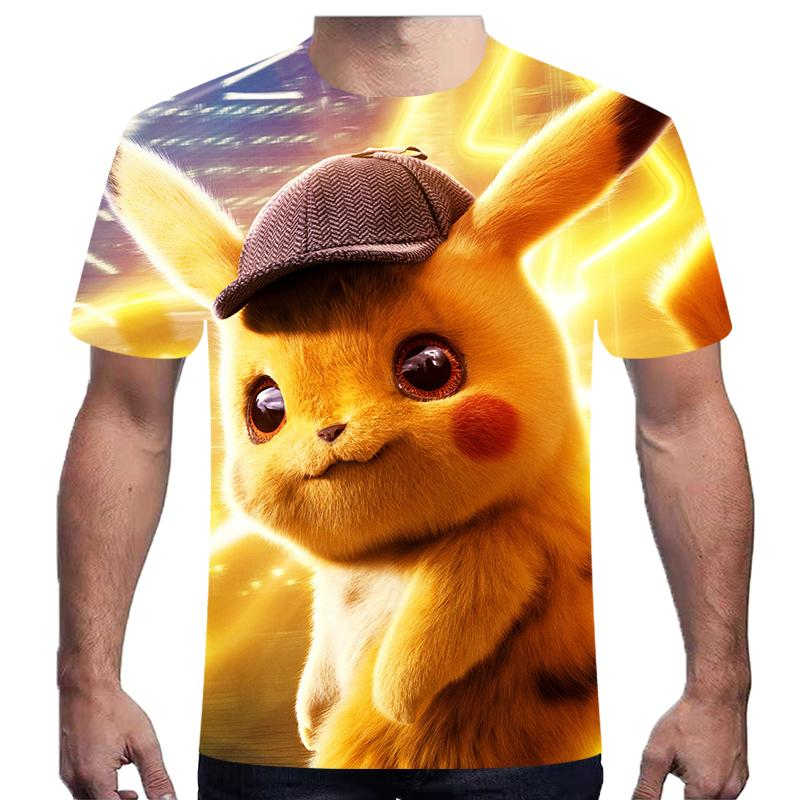 off white 3d movie <font><b>detective</b></font> pokemon <font><b>pikachu</b></font> <font><b>tshirt</b></font> for men women kids t shirt summer casual anime cartoon t funny kid pokemon image