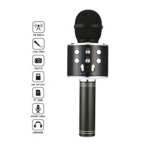 Image 3 - New Portable Wireless Microphone Bluetooth Karaoke Home Mic Stereo Speaker Player USB Studio KTV Music Online