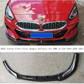For BMW Z4 G29 2019 2020 2021 REAL Carbon Fiber Front Bumper Diffuser Lip Spoiler High Quality Car Accessories image
