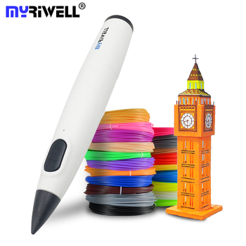 Myriwell 3D Pen DIY 3D Printer Low Temperature 3d Printing Pen Best for Kids With PCL Filament 1.75mm Christmas Birthday