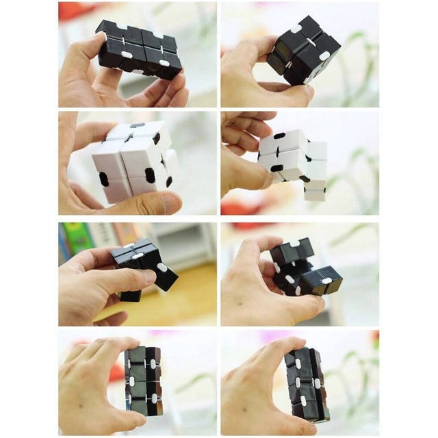 Magic Infinity Cube Decompression Toy for Children Adult Stress Relieve Toys Flip Cubic Puzzle Anti-anxiety Cube Toy Autism Gift 5
