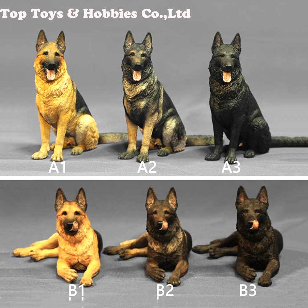 1//6 Shepherd Dog Model for 12/'/' ZY ZC HOT TOYs Police Soldier Action Figure