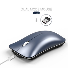 Dual Mode 2.4G Wireless+Bluetooth Mouse Rechargeable Portable Mute Office for PC Computer Laptop