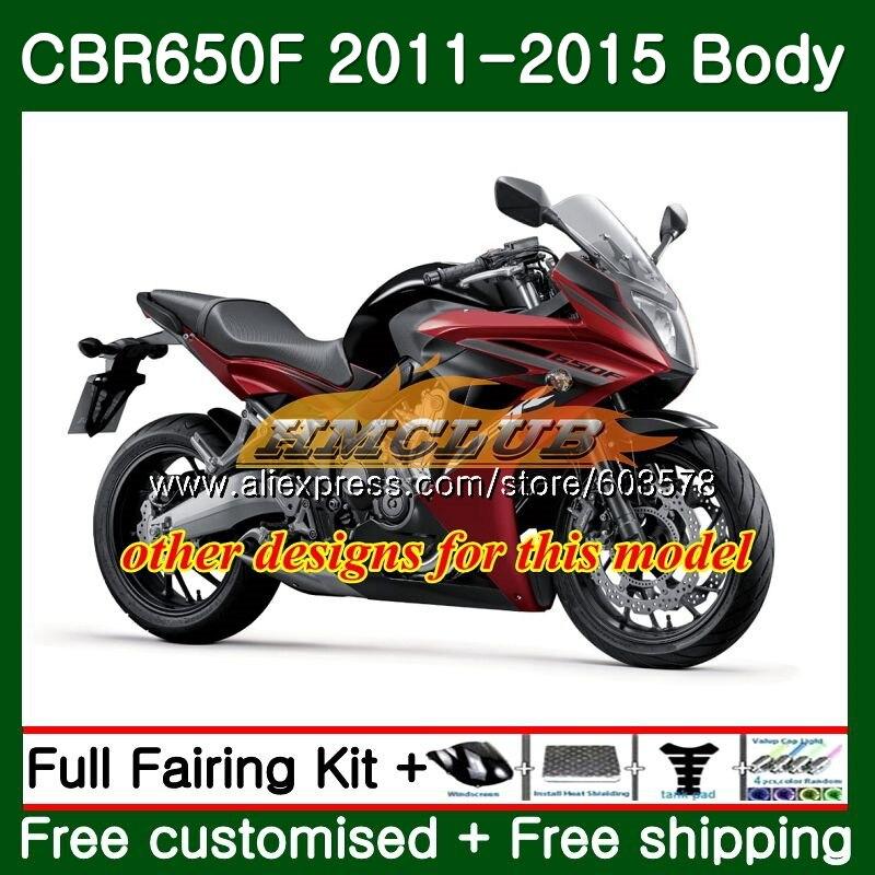 CBR-650F Pour HONDA CBR 650F 650 F 2011 2012 2013 2014 2015 Rouge Blanc 130CL. 15 CBR650 F CBR-650 CBR650F 11 12 13 14 15 Carénage