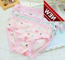 Random 6pcs /lot New Child Baby Kid Clothes Children Underpants Underwear Pure Cotton Cartoon Briefs Girls Panties Panty Pant