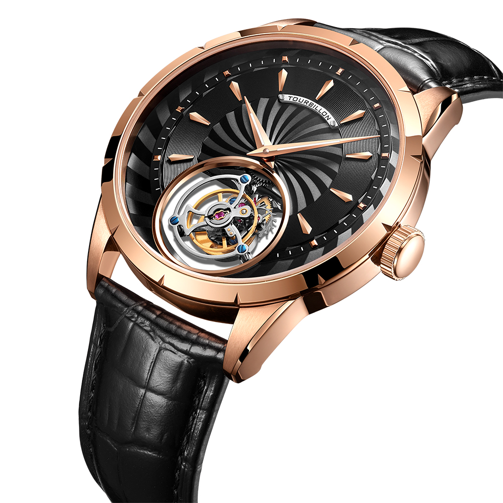100% Tourbillon Watch men GUANQIN watch Skeleton mechanical Sapphire Mens Watches Top Brand Luxury clock men Relogio Masculino 6