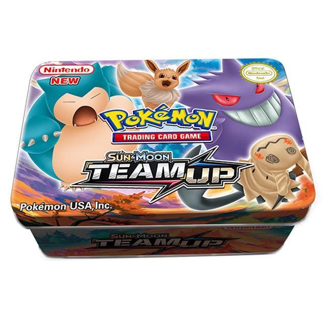 42PCS/BOX SUN&MOON TEAM UP GX MEGA Pokemon Shining Card Game Battle Carte Trading Cards Game Children Pokemons Toys for children 1