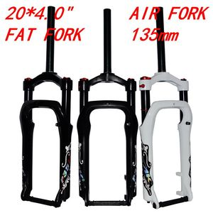 "Snow MTB Moutain 20inch Bike Fork Fat bicycle Fork Air Gas Locking Suspension Forks Aluminium Alloy For 4.0""Tire 135mm(China)"