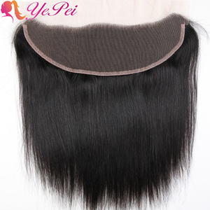 Brazilian Straight Hair 13x4 Lace Frontal Closure Pre Plucked Human Hair Ear To Ear Lace Closure Remy Hair 130% Density(China)