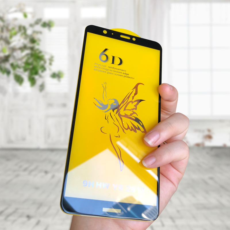 6D Protective Glass On The For Huawei P Smart 2019 Glass Full Cover Huawei P Smart 2019 2018 Screen Protector Tempered Glass