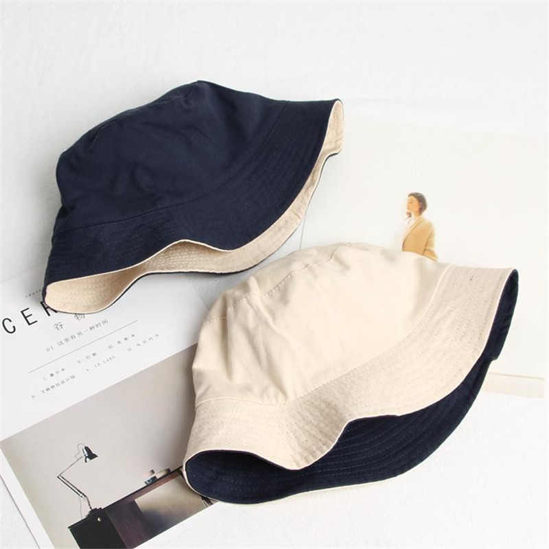 ニューライトボード純粋な綿両面ウェアラブルバケツ帽子男性の女性アウトドアレジャー野生漁師帽子ファッション夏太陽の帽子