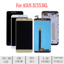 Original For ASUS Zenfone 3 Max ZC553KL X00DD LCD Display Touch Screen Digitizer Assembly For Asus ZC553KL Display with Frame asus zenfone 3 max zc553kl 32gb silver 4j027ru