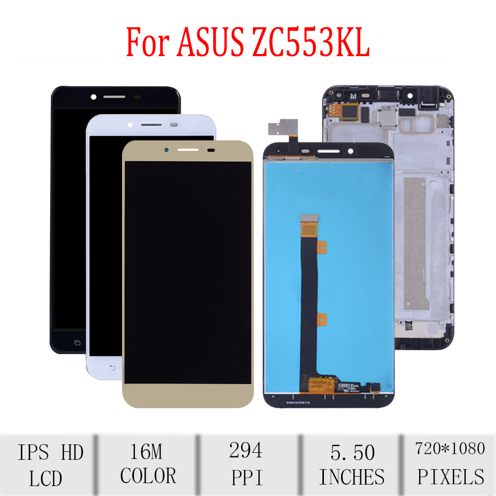 Original For ASUS Zenfone 3 Max <font><b>ZC553KL</b></font> X00DD LCD <font><b>Display</b></font> Touch Screen Digitizer Assembly For Asus <font><b>ZC553KL</b></font> <font><b>Display</b></font> with Frame image