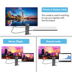 Image 5 - Uniwersalna stacja dokująca Full HD 2048x1152 USB 3.0 + RJ45/DVI/HDMI/VGA/MIC/Port Audio DisplayLink Gigabit Ethernet praca Online
