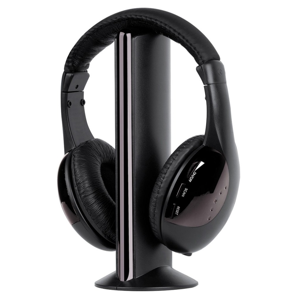 Multi-anlass Wireless <font><b>Headset</b></font> Für <font><b>TV</b></font> Computer 3,5mm High-fidelity sound <font><b>Headset</b></font> Mit FM radio Stimme Rufen funktion MH2001 image