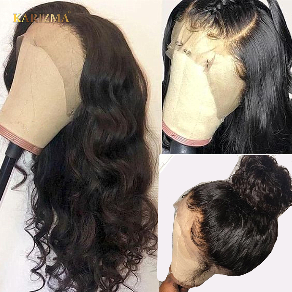 150% Full Lace Human Hair Wigs With Baby Hair Glueless Pre Plucked Brazilian Remy Hair Loose Wave Full Lace Wigs For Black Women