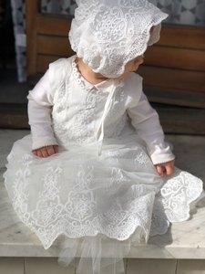 Image 5 - HAPPYPLUS bebek elbise uzun kollu/kolsuz çocuklar ikinci İlk doğum günü kız parti kıyafeti vaftiz bebek vaftiz elbiseler