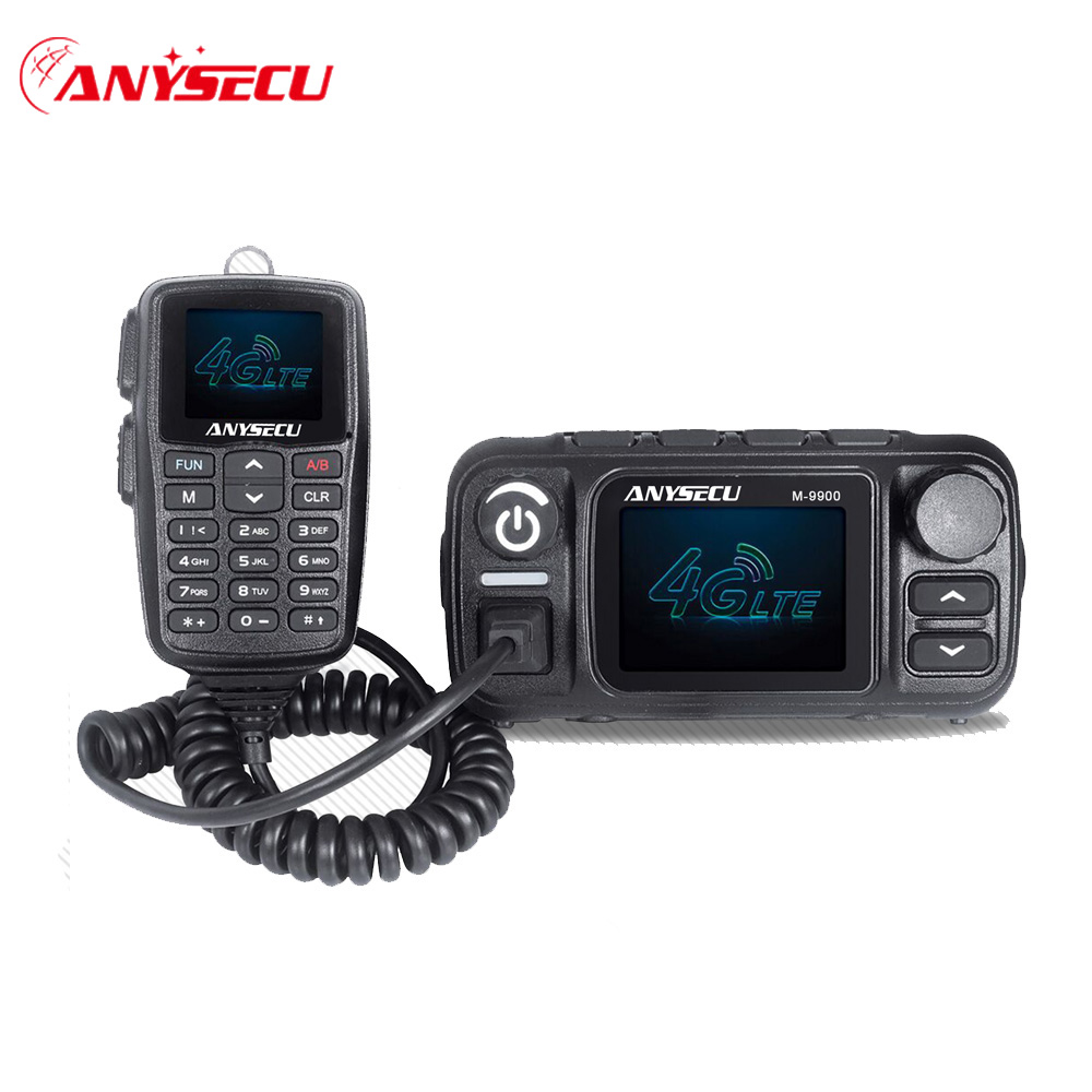 Anysecu M-9900 4G LTE POC VHF UHF Dual Mode Mobile Radio 25W Ham Radio Station Walkie Talkie Communciator Real PTT Network Radio