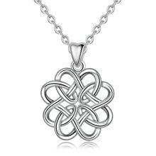 Цепочка с подвеской в виде цветка розы из серебра 925 пробы