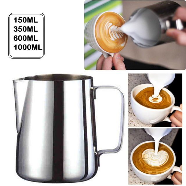 Handheld Stainless Steel Milk Frothing Jug Espresso Coffee Pitcher Barista Craft Coffee Latte Milk Frothing Jug Pitcher 2020 New 1
