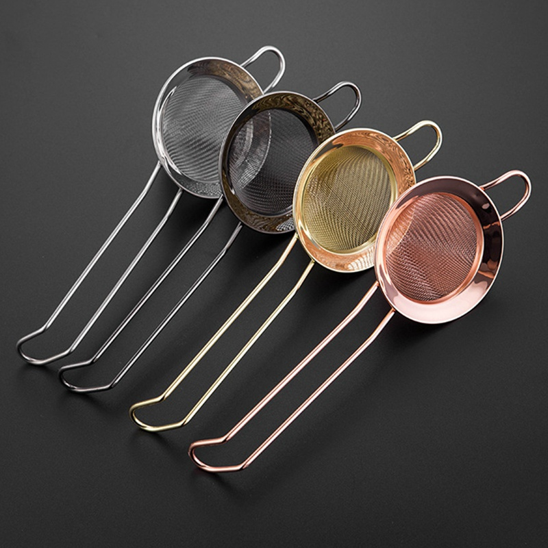 Stainless Steel Cone Sieve Bartending Filter With Handle Mesh Tea Strainer Tea Infuser Milk Coffee Herb Spice Filter Diffuser