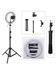 Fill-Light Stand-Tripod Ring-Lamp Camera Makeup Selfie-Ring Video Phone Dimmable Photo Led