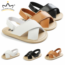 Summer Shoes Sandals Baby-Boy Toddler Newborn Girl Non-Slip Soft PU Solid-Color