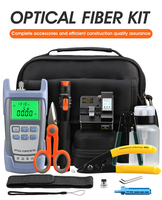 FTTH fiber optic tool kit Optical Power Meter 10mw AUA S2 Fiber Cleaver Visual Fault Locator with Stripping Pliers