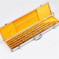 Professional bamboo flutes full transverse fluteS musical instruments wooden Chinese flute dizi kit C D E F G key 5pcs