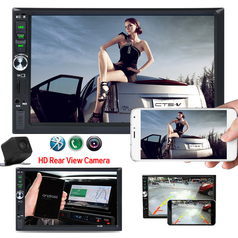 7 Inch HD Car 2 Channel MP5 MP4 Multimedia Player Car FM Stereo Touch Screen Auto audio Car Stereo MP5 Bluetooth USB TF Camera