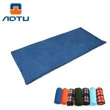 Aotu взрослый спальный мешок из флиса Портативный Открытый спальный мешок Кемпинг путешествия теплый Ультра лёгкий спальный мешок лайнер AT6109