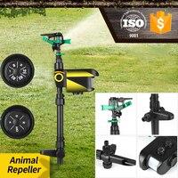 Repelente de animais ativado por movimento, aspersor giratório de movimento para jardim, prevenção de animais
