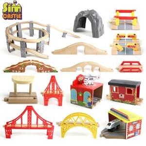 Wooden Track Railway Bridge Tr