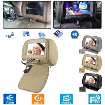 Универсальный 7 дюймовый автомобильный подголовник, 2 шт., MP4 монитор/мультимедийный плеер/MP4/USB SD MP3 MP5 FM встроенный динамик