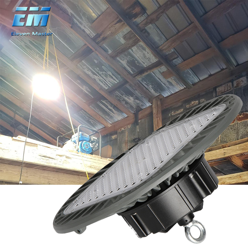 Garage Lamp Deformation UFO Led Light High Bay Light 50W 200W 220v Lights For Gas Station Canopy Workshop Football Field ZDD0019