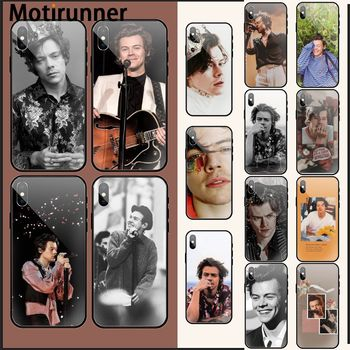 Singer Harry Styles Pattern TPU Soft Phone Case for iPhone 11 pro XS MAX 8 7 6 6S Plus X 5 5S SE2 XR case image