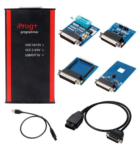 Newest Iprog+ Key Programmer Support IMMO + Mileage Correction + Airbag Reset Iprog Pro Till 2019 Replace Carprog/Digiprog/Tango