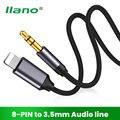 AUX-кабель LLANO с 8 контактами на 3,5 мм, адаптер для подключения наушников к разъему AUX, разветвитель Kable для iPhone 12/11