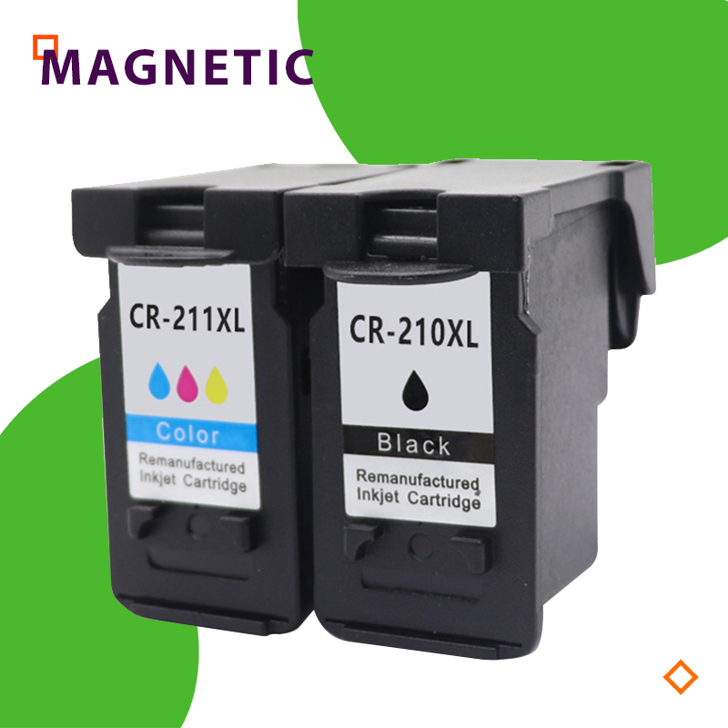 2Pcs PG210 PG 210 CL211 XL <font><b>ink</b></font> <font><b>cartridge</b></font> for <font><b>Canon</b></font> PG-210 CL-211 for <font><b>Canon</b></font> Pixma IP2700 IP2702 MP240 <font><b>MP250</b></font> MP260 MP270 MX340 image