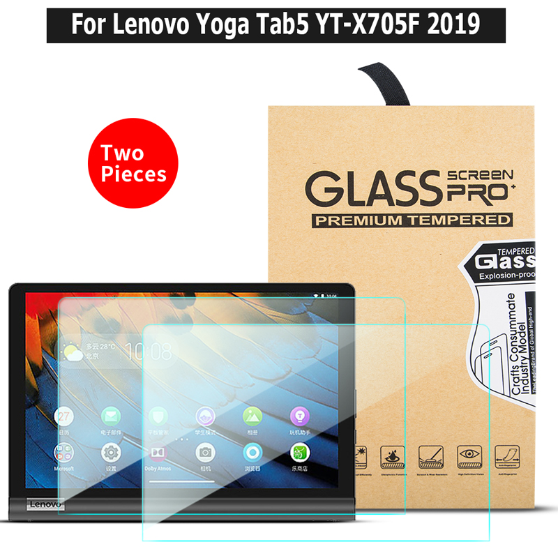 2PCS/Lot Tempered Glass Screen Protector For Lenovo Yaga Tab5  YT-X705F  10.1 Inch 2019 Tablet Protective Film Glass Guard
