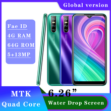 Smartphones A9 19 9 Water Drop Screen 2SIM 4G RAM 64G ROM Quad Core Cellphone Mobile Phone Android 13MP Face Unlocked Celulares cheap BYLYND Detachable 64GB Face Recognition Up To 48 Hours 3200 Adaptive Fast Charge Smart Phones Bluetooth 5 0 Capacitive Screen