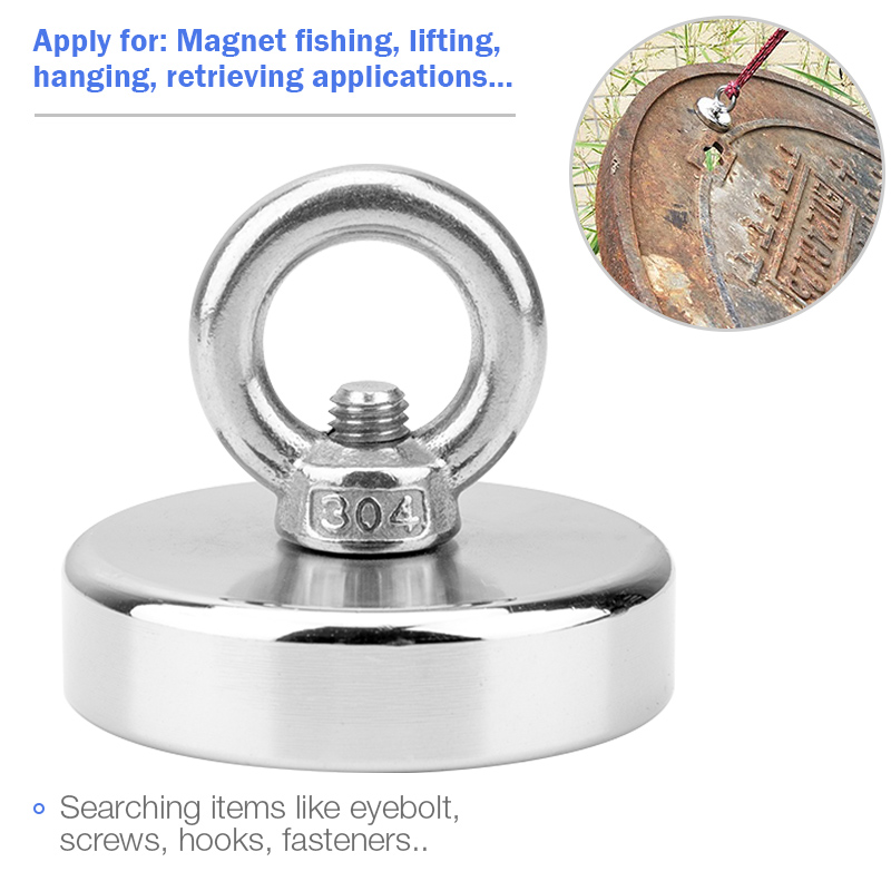 Super Strong Magnet Fishing Powerful Magnetic Search Magnet Aimant Puissant Neodymium Magnets Salvage Fishing Hook Magnets