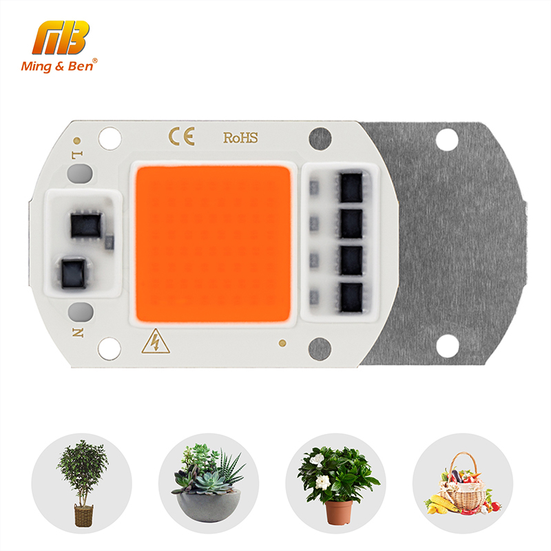 LED COB Grow Chip Full Spectrum Phyto Lamp AC220V 10W 20W 30W 50W DIY Fitolamp For Indoor Plant Seedling Flower Growth Light