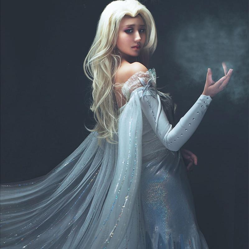 Olaf's Adventure Princess Elsa Costume Princess Cosplay Queen Ice Snow Adult Dress Halloween Cartoon Disfraz Mujer Custom Made