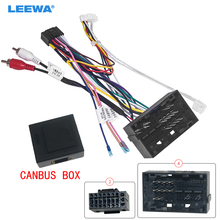 LEEWA Auto 16pin Android Stereo Power Kabelbaum Kabel Adapter Mit Canbus Für Fait Viaggio(2012 2015)/Ottimo(2014 2015)