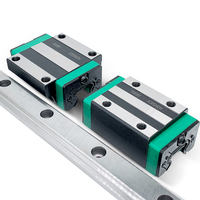 Frete grátis linear rail 1PC HGR15 HGH15CA ou HGW15CC Bloco de guia Linear + 2PC L 300 400 500 600 700 800-1200mm para CNC
