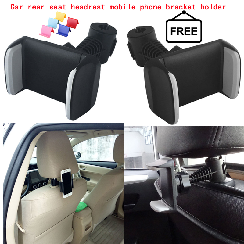 Car Bike Back Seat Headrest Mount Holder 360 Degree Universal Mobile Phone Holder Stand For IPhone Samsung Xiaomi Redmi 4 Huawei