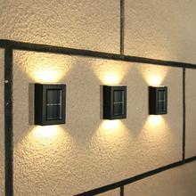 Solar LED Light Outdoor Solar Night Light Waterproof Up and Down Luminous Outdoor Decorative Wall Garden Wall Light 2LED lights cheap LBTFA CN(Origin) NI-MH LED Bulbs None 1 2V 1-5m White Warm White HOLIDAY