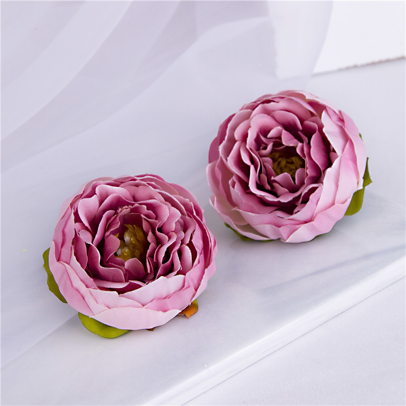 13Colors 5.5CM Lovely Little Rose Peony Artificial Flower For DIY Bridal Bouquet Wedding Decoration Home Decor Supplies Props