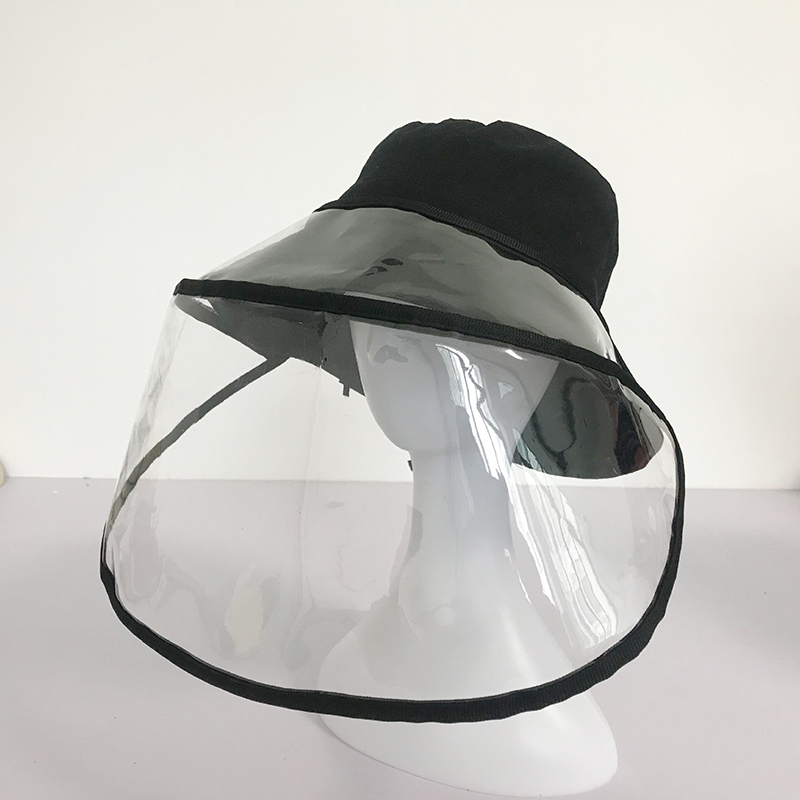 Protection Mask Removable Windproof Anti-dust Anti-droplet Spittle Face Covering For Bucket Hat Sun Visor Hat Baseball Cap